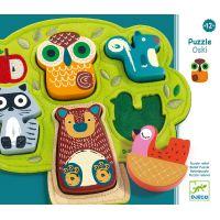 Djeco Vkládací puzzle Oski