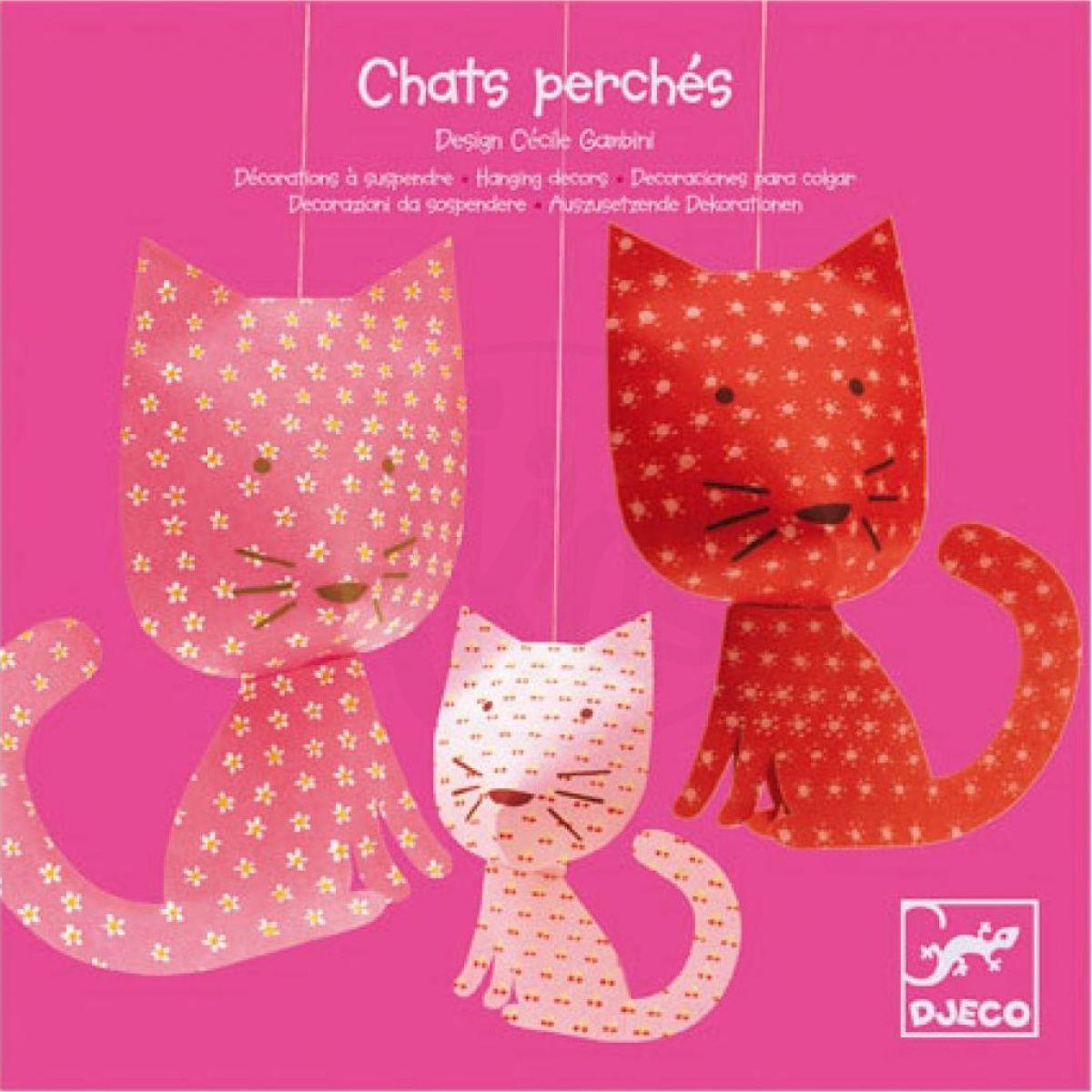 Djeco Závěsná dekorace Růžové kočky