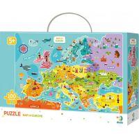 DoDo Puzzle Mapa Európy 100 dielikov 2