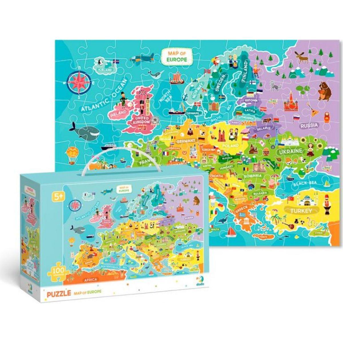 DoDo Puzzle Mapa Európy 100 dielikov