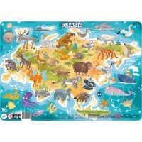 DoDo Puzzle Zvieratá Euroasie 53 dielikov