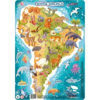 DoDo Puzzle Zvieratá Južná Amerika 53 dielikov