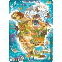 DoDo Puzzle Zvieratá Severná Amerika 53 dielikov