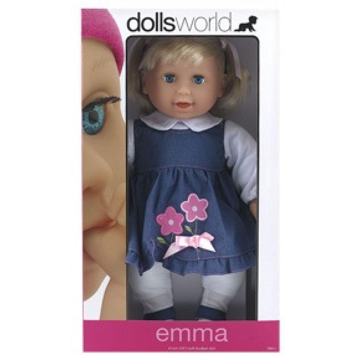 Dolls World Panenka Emma 41 cm modré šaty