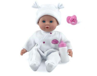 Dolls World Panenka Little Treasure 38 cm bílý obleček