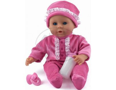 Dolls World Panenka Little Treasure 38 cm růžový obleček