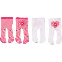 Zapf Creation Dolly Moda Punčocháče 2 ks bílé a růžové