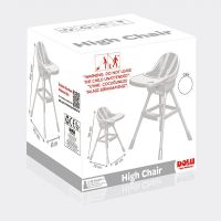 Dolu Dětská jídelní židlička bílá 3