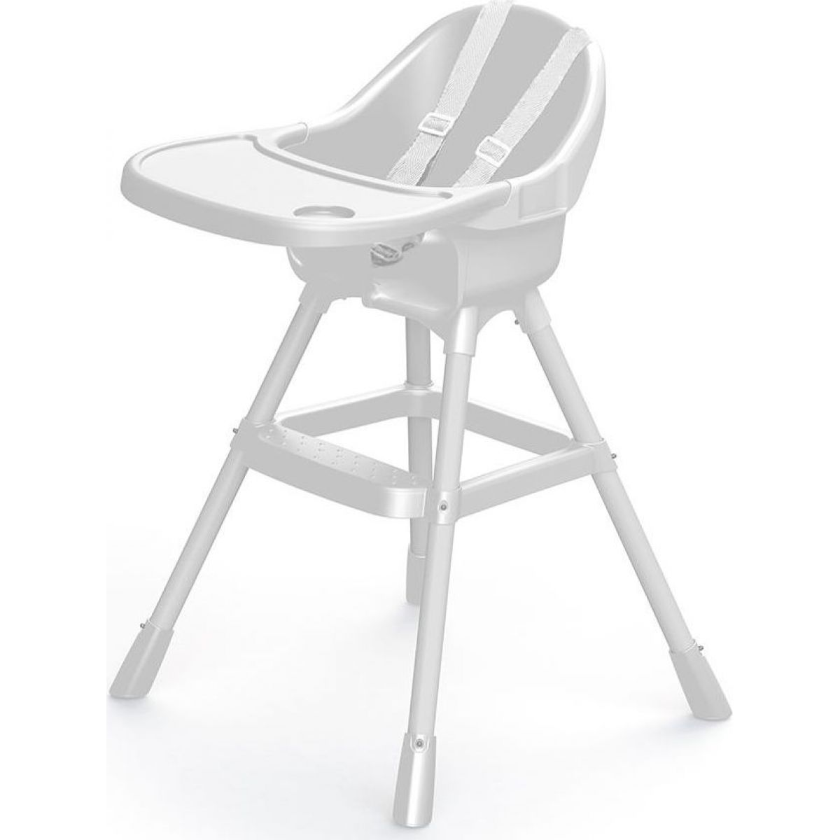 Dolu Dětská jídelní židlička bílá