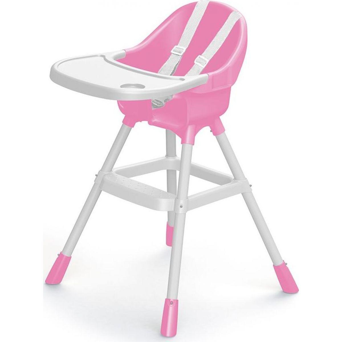 Dolu Dětská jídelní židlička růžová
