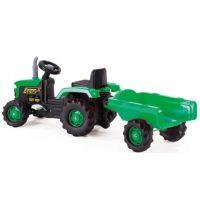 Dolu Dětský traktor šlapací s vlečkou zelený 2