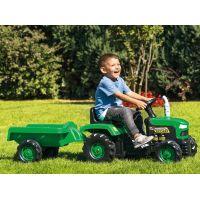 Dolu Dětský traktor šlapací s vlečkou zelený 3