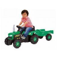 Dolu Dětský traktor šlapací s vlečkou zelený 4