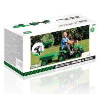 Dolu Dětský traktor šlapací s vlečkou zelený 5
