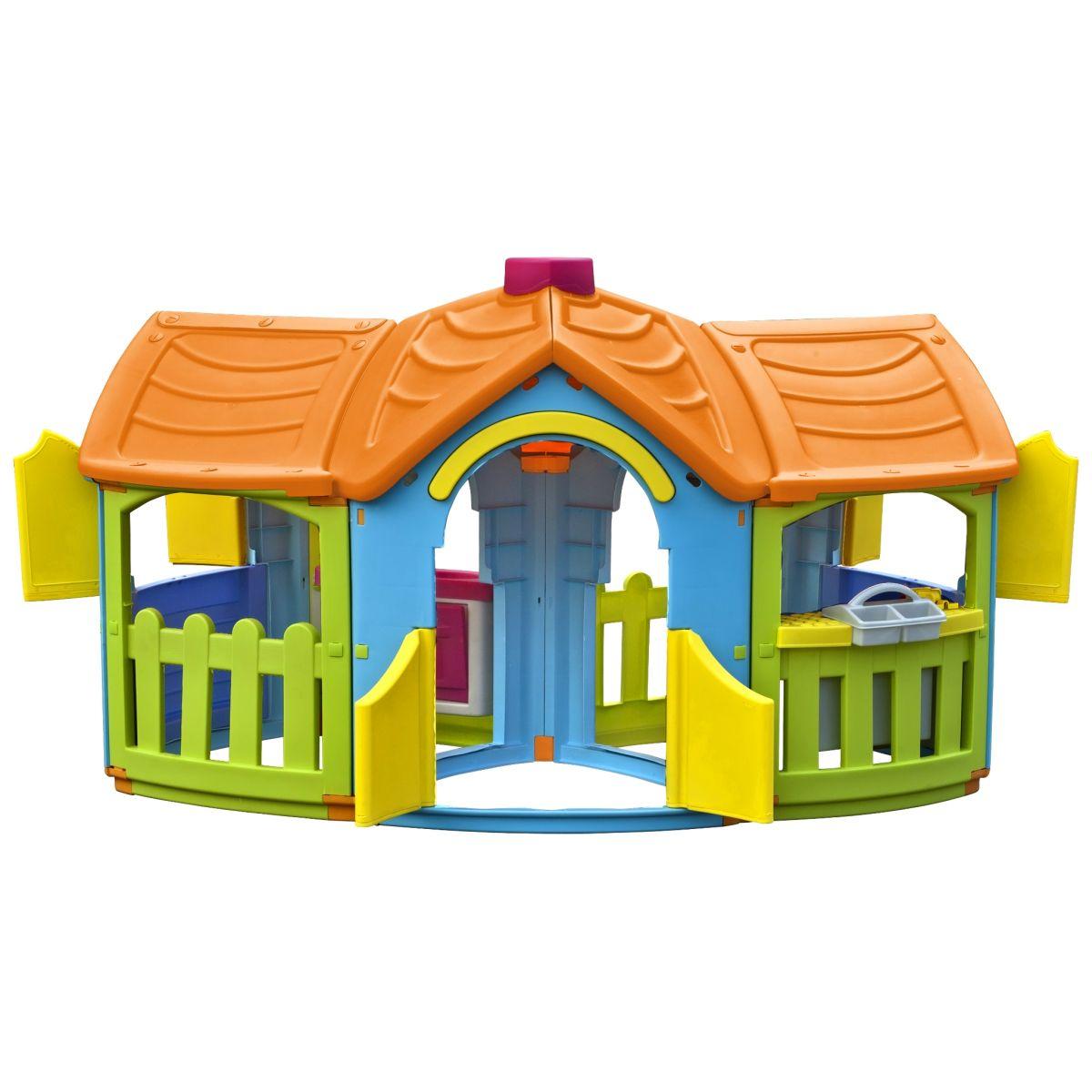 Marian Plast Dětský zahradní domeček Grand Villa - Oranžová střecha