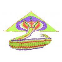 Drak létací nylonový s ocasem 4 m