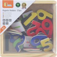 Viga Dřevěná magnetická čísla v krabičce