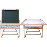Dřevěná tabule a stolek 2v1