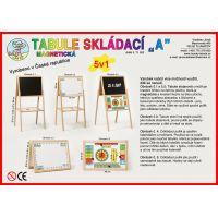 Jaroš Dřevěné hračky Tabule skládací A magnetická 2