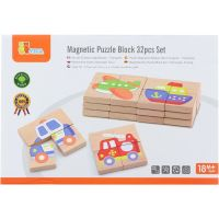 Viga Dřevěné magnetické puzzle Dopravní prostředky