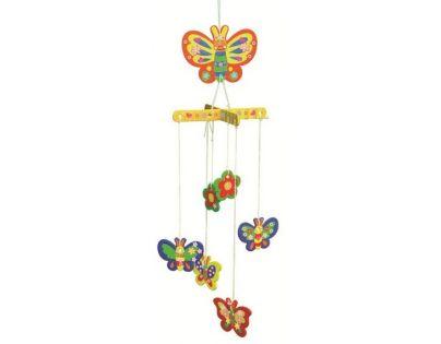 Anděl Dřevěné puzzle houpací závěs 20 x 15 cm Motýl