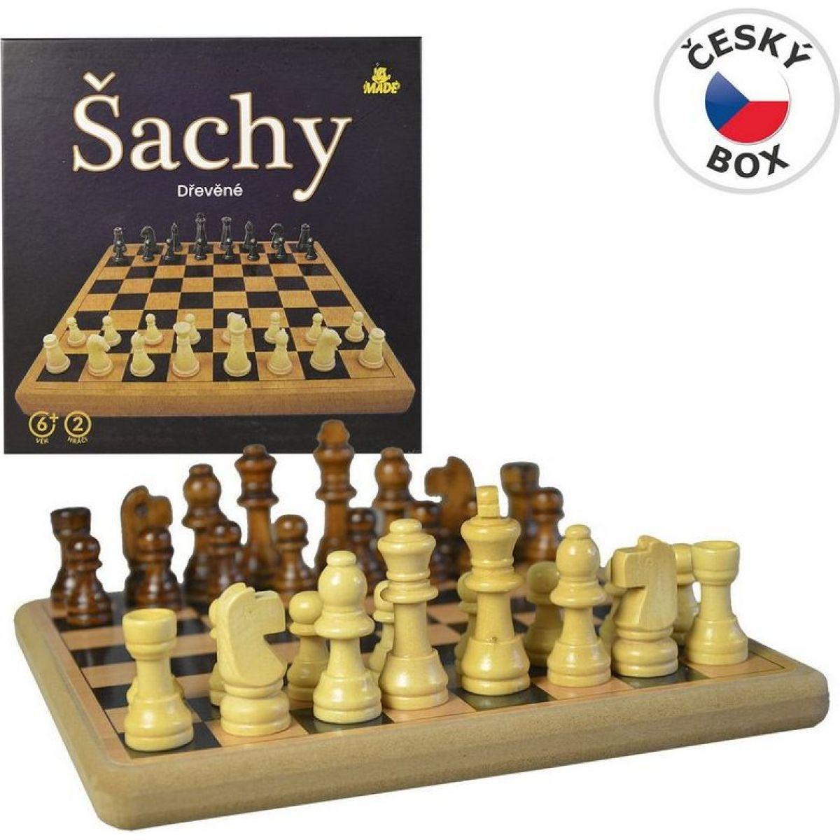 Made Dřevěné šachy 21 x 21 cm