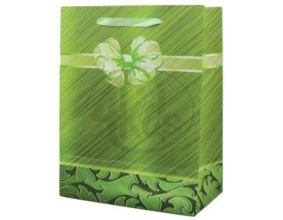 Dárková taška mašle malá - Zelená
