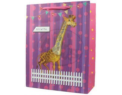 Dárková taška zvířátka lesk - Žirafa