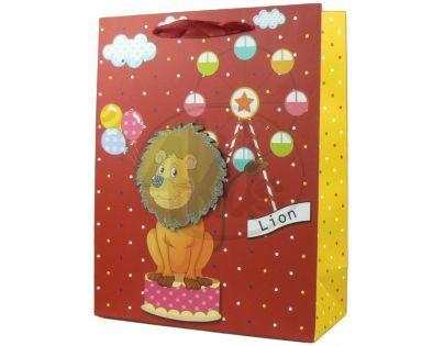 Dárková taška zvířátka lesk - Lev