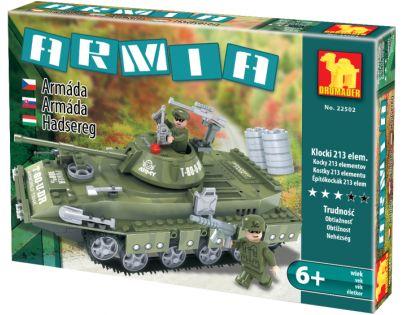Dromader Stavebnice Vojáci Tank 213 dílků