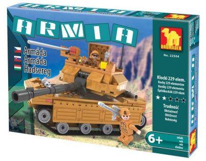 Dromader Stavebnice Vojáci Tank 229 dílků
