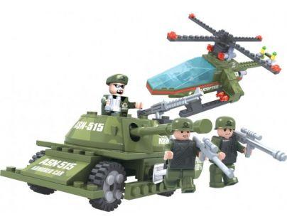 Dromader Stavebnice Vojáci Tank a Vrtulník 253 dílků