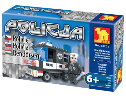 Dromader Stavebnice Policie Auto 58 dílků