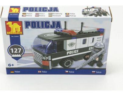 Dromader Stavebnice Policie Dodávka 127 dílků