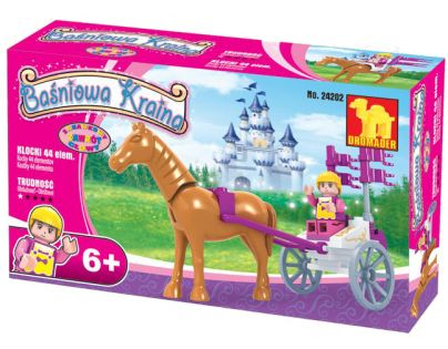 Dromader Stavebnice Vozíček s koněm 44 dílků