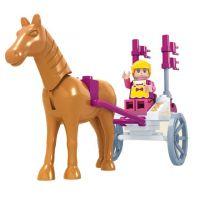 Dromader Stavebnice Vozíček s koněm 44 dílků 2