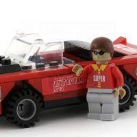 Dromader Stavebnice Auto červené 3