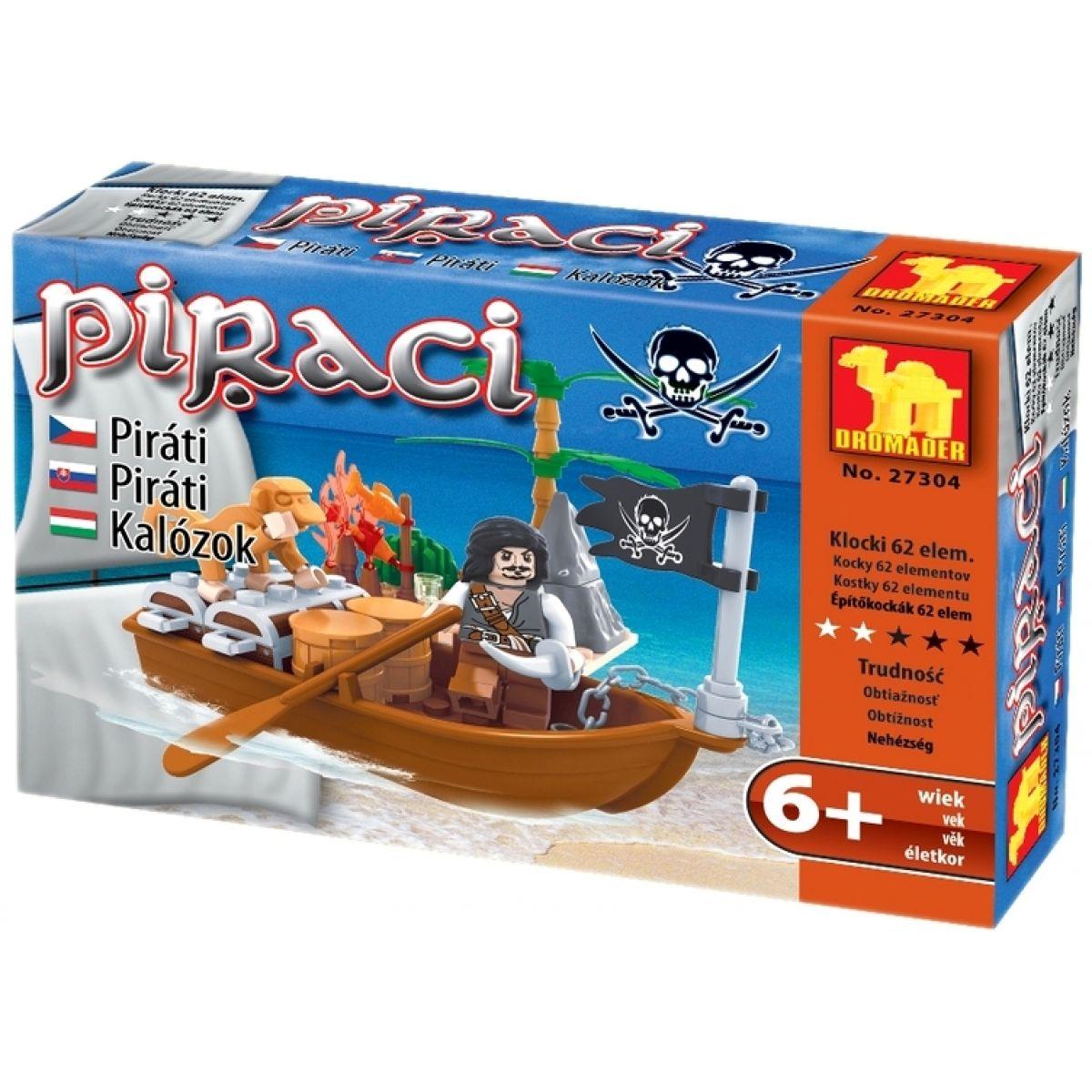 Stavebnice Dromader 27304 Piráti 62ks