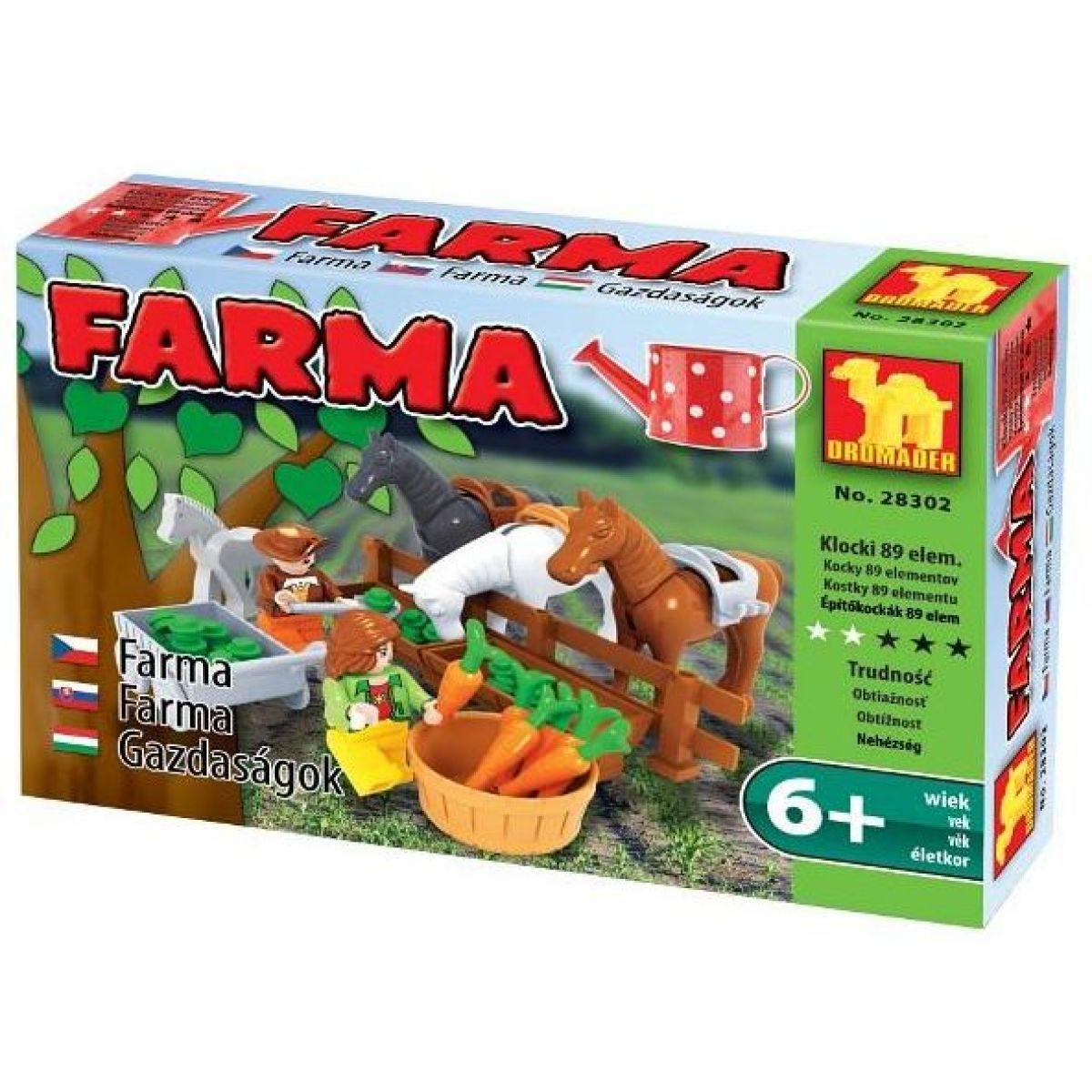 Dromader Stavebnice Farma Koně 89 dílků