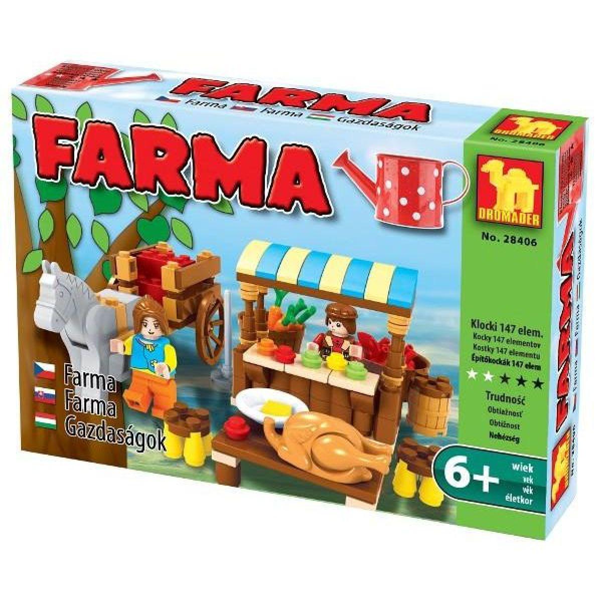 Dromader Stavebnice Farma Stánek 147 dílků
