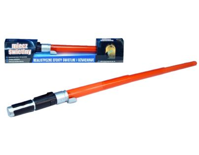 Teddies 23220290 - Svítící meč na baterie se zvukem, v krabici - 54cm
