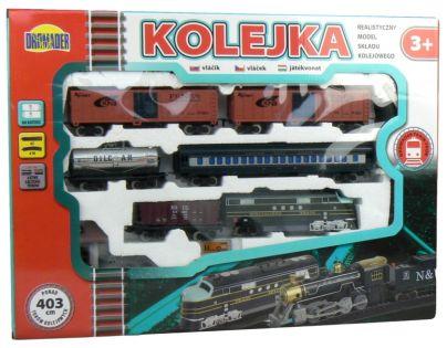 Dromader Vlak s 5 vagónky a doplňky 403 cm