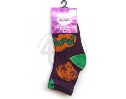 Dětské ponožky Witch vel. 31 - 34 fialové