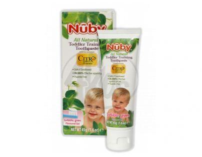 Nuby T18001NU - Dětská zubní pasta bez fluoru Nuby All Natural