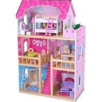HM Studio Dům pro panenky  s nábytkem 16 ks