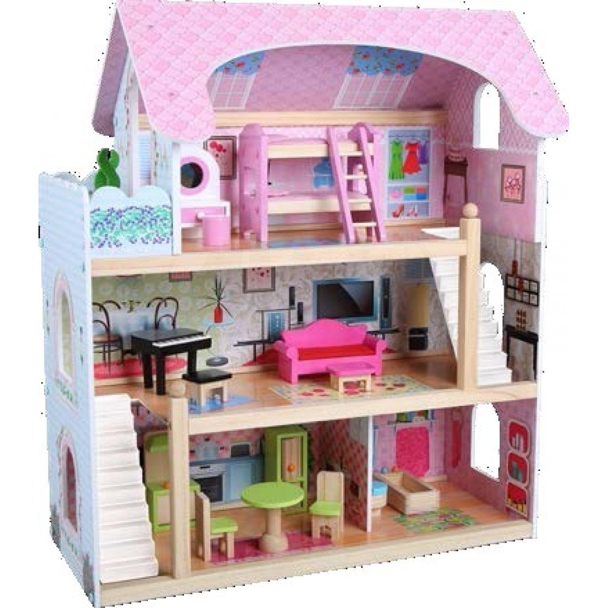 HM Studio Dům pro panenky 16 ks nábytku