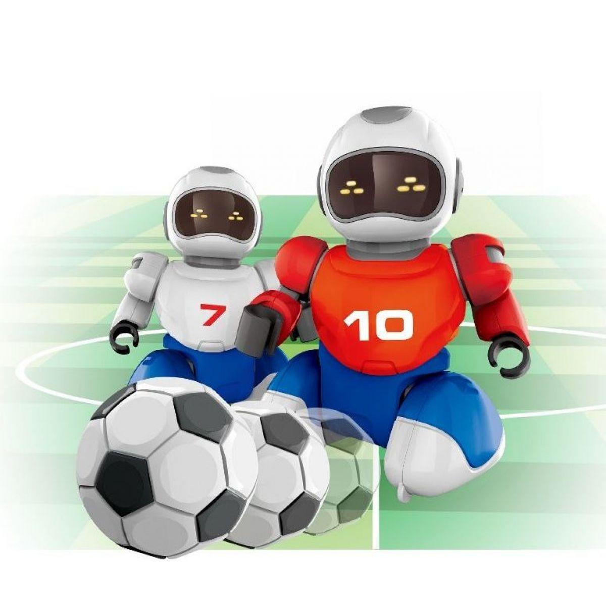 Dva Roboti s míčkem na dálkové ovládání a dvěma brankami
