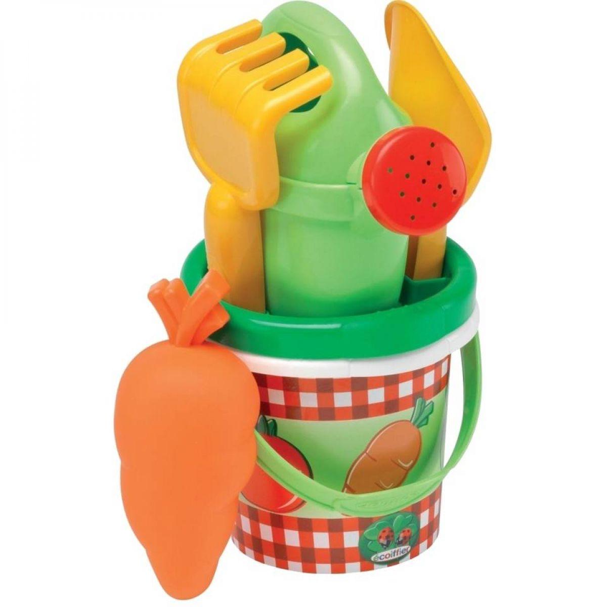 Ecoiffier Kyblíček Zelenina s konvičkou a příslušenství