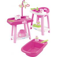 Ecoiffier Nursery Židlička, vanička a přebalovací pult pro panenky