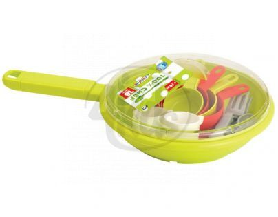 Ecoiffier 0973 - Pánev a sada nádobí